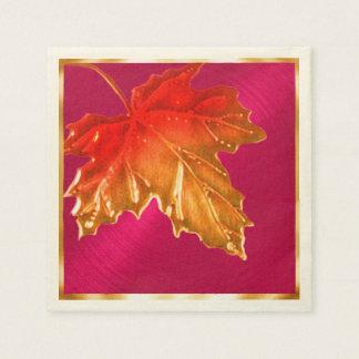 Serviettes En Papier Feuille d'érable d'automne