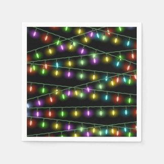 Serviettes En Papier Ficelles de lumière de Noël