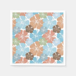 Serviettes En Papier Fleurs tropicales hawaïennes de ketmie
