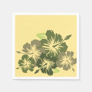 Serviettes En Papier Floral hawaïen de ketmie épique