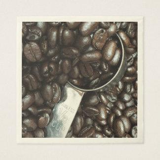 Serviettes En Papier Grains de café et photographie de scoop