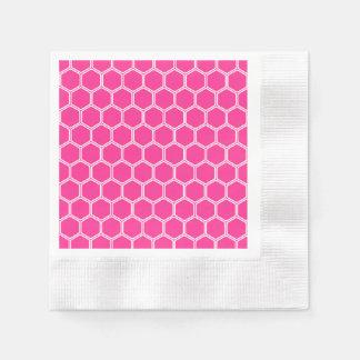 Serviettes En Papier Hexagone 1 de roses indien