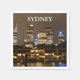 Serviettes En Papier Horizon de Sydney de Quay circulaire