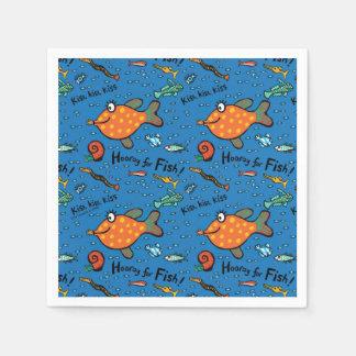 Serviettes En Papier Hourra pour le motif de poissons