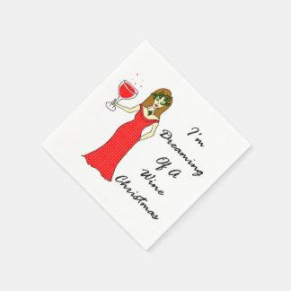 Serviettes En Papier Je rêve de Noël de vin