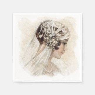 Serviettes En Papier Jeune mariée de cru de Deco