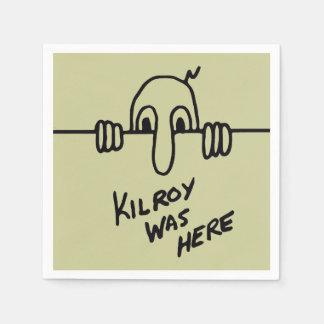 Serviettes En Papier Kilroy était ici