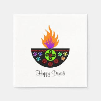 Serviettes En Papier Lampe colorée Diya de Diwali
