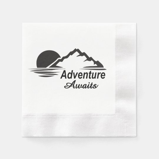 Serviettes En Papier L'aventure attend la nature grande dehors