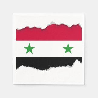 Serviettes En Papier Le drapeau de la Syrie