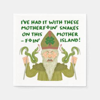 Serviettes En Papier Le jour drôle de Patrick de saint serpente les