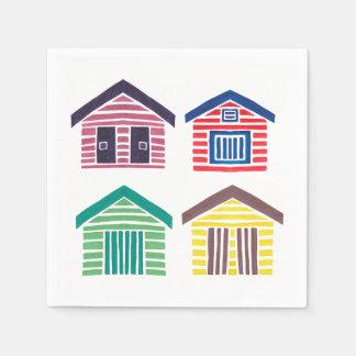 Serviettes En Papier Les Chambres de plage colorées