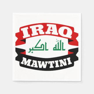 Serviettes En Papier L'Irak mon drapeau de bannière de patrie