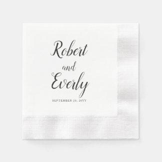 Serviettes En Papier Mariage d'Everly