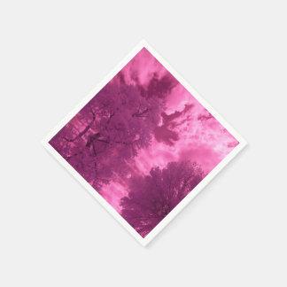 Serviettes En Papier Nuage rosâtre d'infrarouge de tonalités
