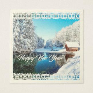 Serviettes En Papier Papier de soie de soie de bonne année