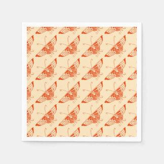 Serviettes En Papier Papillon stylisé de Deco - mandarine