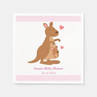 Serviettes En Papier Partie de baby shower mignonne de kangourou