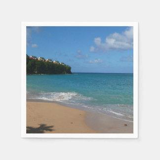 Serviettes En Papier Paysage tropical de vacances de plage de