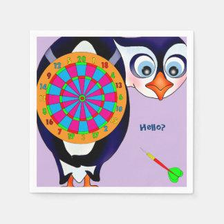 Serviettes En Papier Pingouin de dard par Happy Juul Company
