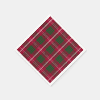 Serviettes En Papier Plaid de tartan de Crawford de clan