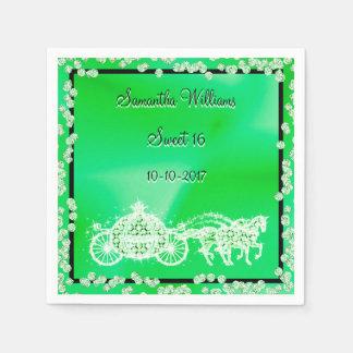 Serviettes En Papier Princesse verte Coach et bonbon 16 à chevaux