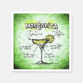 Serviettes En Papier Recette de boissons de margarita