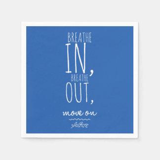 Serviettes En Papier Respirez respirent dedans la citation inspirée