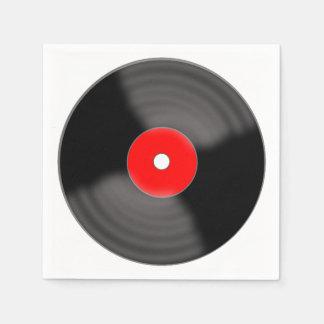 Serviettes En Papier Rétros serviettes rouges de partie de disque