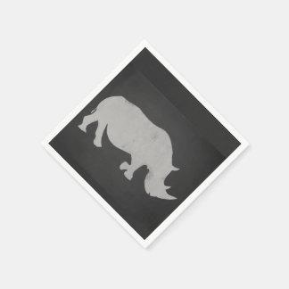 Serviettes En Papier Rhinocéros de craie
