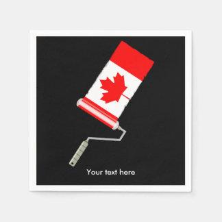 Serviettes En Papier Rouleau de peinture canadien de drapeau