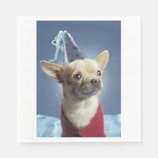 Serviettes En Papier Serviette de chien de partie de chiwawa