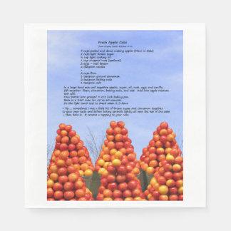 Serviettes En Papier Serviette de papier de recette de gâteau aux
