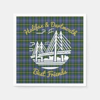 Serviettes En Papier Serviette de tartan de meilleurs amis de Halifax