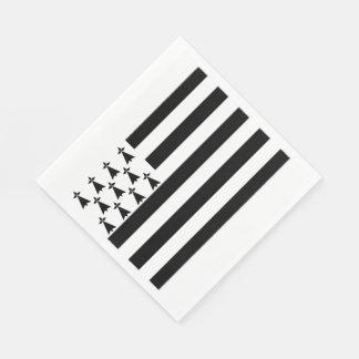 Serviettes En Papier Serviettes bretonnes de déjeuner de drapeau