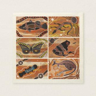 Serviettes En Papier Serviettes de collage de Mundara