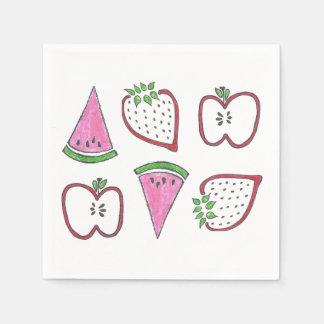 Serviettes En Papier Serviettes de fruit d'amusement