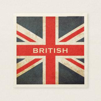 Serviettes En Papier Serviettes de papier britanniques snob de partie