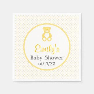 Serviettes En Papier Serviettes de papier de baby shower d'ours de