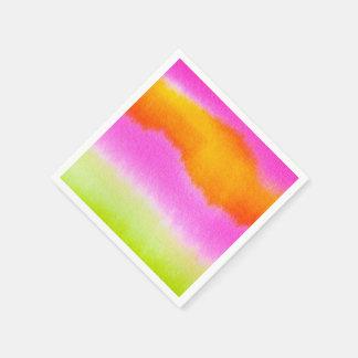 Serviettes En Papier Serviettes de papier de cocktail coloré