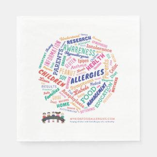 Serviettes En Papier Serviettes de papier de déjeuner des allergies