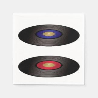 Serviettes En Papier Serviettes de papier de disques vinyle