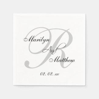 Serviettes En Papier Serviettes de papier de mariage élégant fait sur