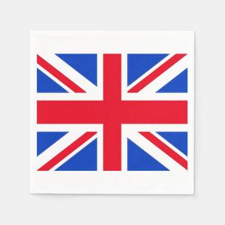 Serviettes En Papier Serviettes de papier de partie du Royaume-Uni