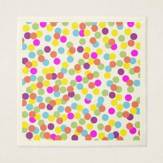 Serviettes En Papier Serviettes de papier de pois coloré