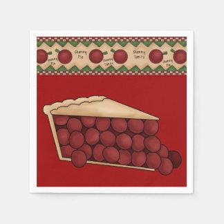 Serviettes En Papier Serviettes de papier de tarte aux cerises douce