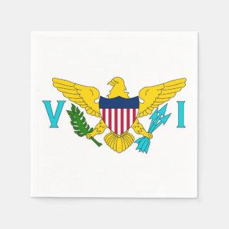 Serviettes En Papier Serviettes de papier patriotiques avec le drapeau