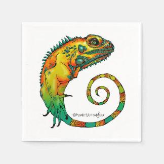 Serviettes En Papier Serviettes de reptile pour une fête d'anniversaire