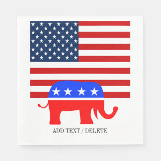 Serviettes En Papier Serviettes de républicain des Etats-Unis