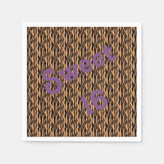 Serviettes En Papier Serviettes d'impression de tigre du bonbon 16